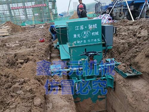 中鐵四局矩形渠帶蓋板施工現場